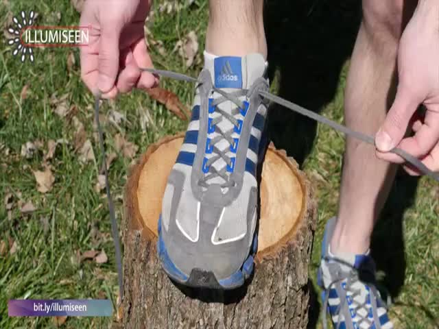 So, This Is What the Extra Shoelace Hole Is For!