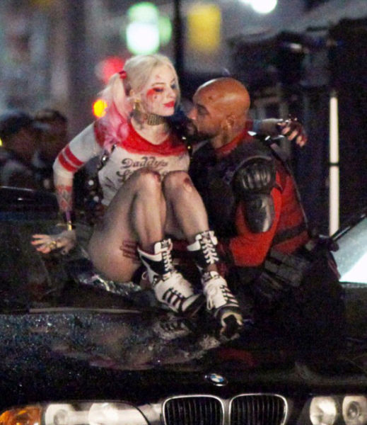 Will Smith and Margot Robbie Get a Little Wet on Set