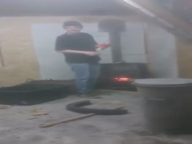 This Is What Happens When You Throw an Aerosol Can in a Wood Stove