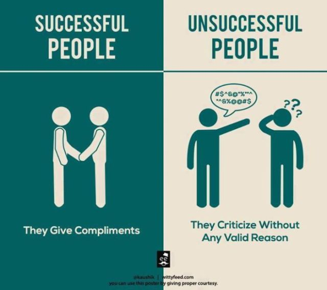 An Interesting Comparison between Successful People vs. Unsuccessful People