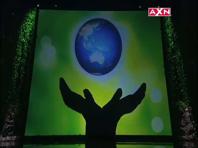 An Awesome Shadow Dance Tribute to Mother Nature on Asia's Got Talent