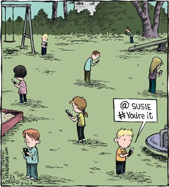 Funny Cartoons That Show That Smartphones Are Taking Over the World