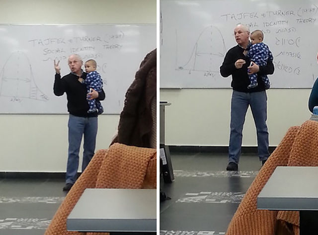 What This College Professor Did During His Lecture Will Warm Your Heart