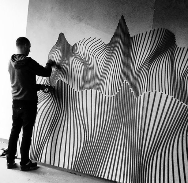 An Amazing Street Artist Who Uses Duct Tape to Bring His Work To Life