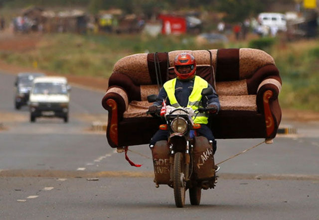 People Who Prove That Motorcycles Can Be Used to Transport Just about Anything