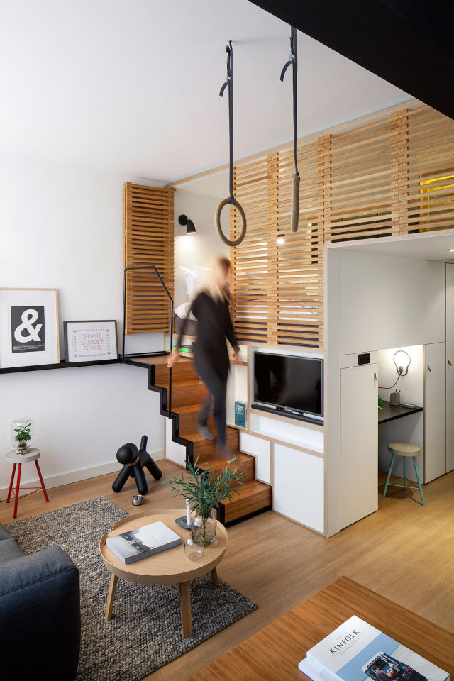 This Tiny Loft Is the Perfect Use of a Small Space