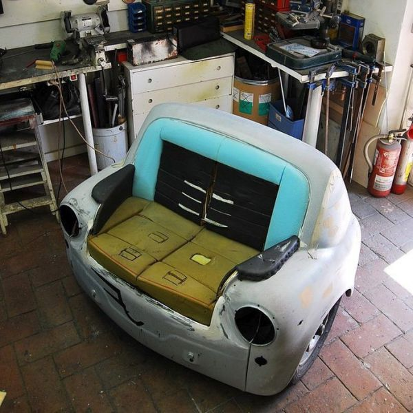Exclusive designer furniture made from cars and other for Furniture made from cars