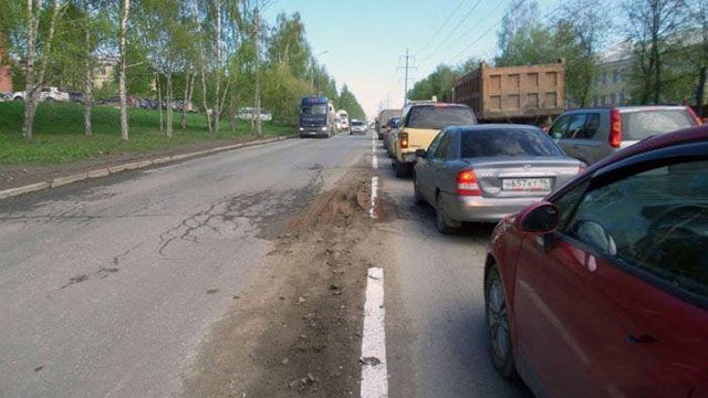This Is How They Do Road Markings in Russia