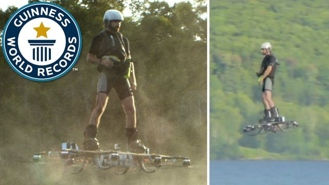 Man Sets Record for Longest Flight on Hoverboard