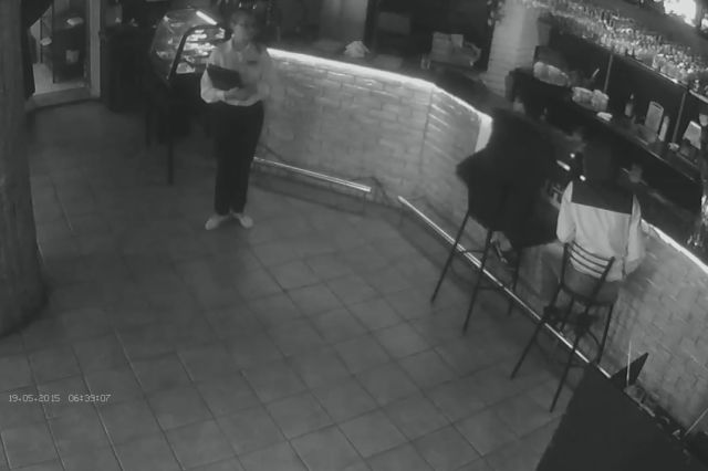 Drunk Russian Dude Tries to Grab Waitress
