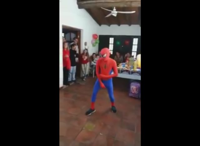 Spiderman Knocks Himself Out at a Kid