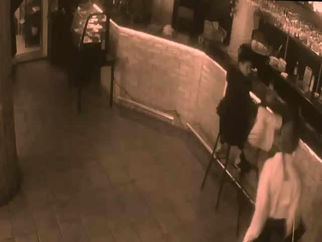 Drunk Russian Dude Tries to Grab Waitress' Boobs, Gets Karma Instead