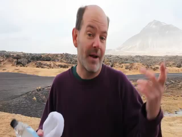 Trying to Drink Water in Iceland Is Challenging  (VIDEO)