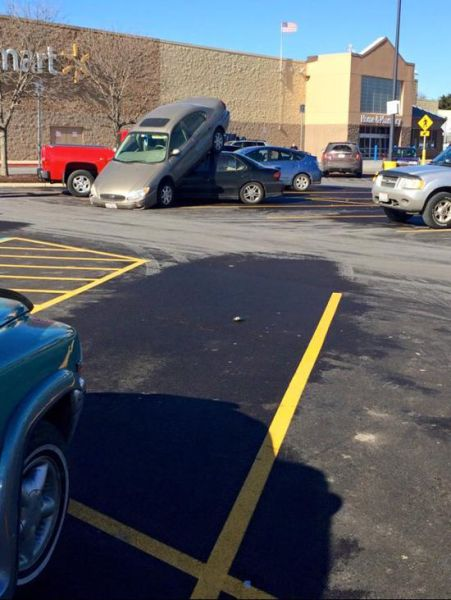 Did These People Honestly Think That This Was a Good Place to Park?