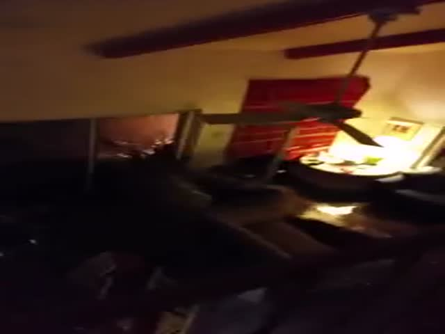 Terrifying Footage of Texas Flash Floods as Seen from Inside a House
