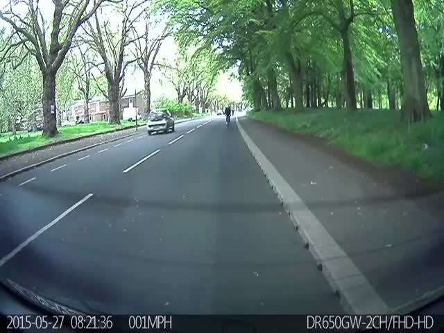 The Most Unexpected Accident between a Cyclist and a Learner Driver