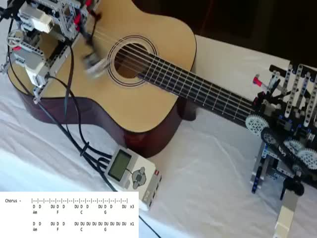 A Lego Robot That Literally Plays Guitar  (VIDEO)