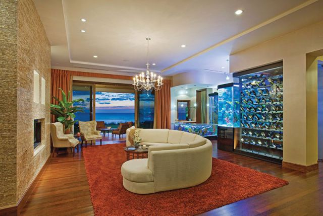 A Seafront Mansion with an Awesome Water Themed Interior