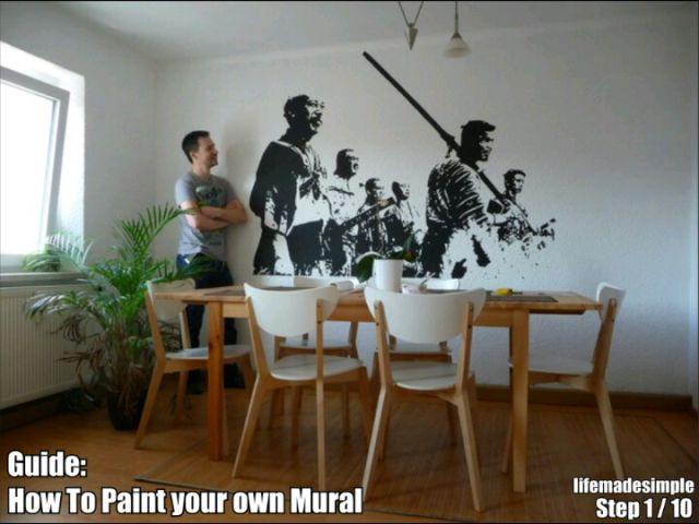 Dude Recreates the Most Epic Wall Mural in a Few Easy Steps