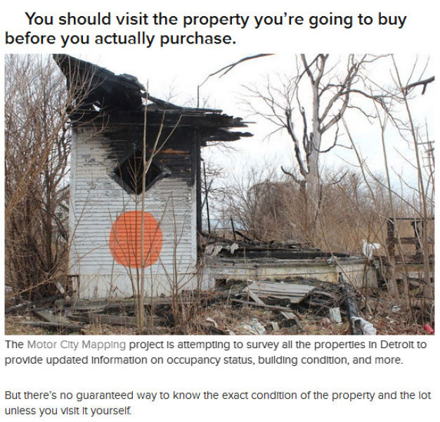 Buy a House for $500 but Be Careful of Fine Print