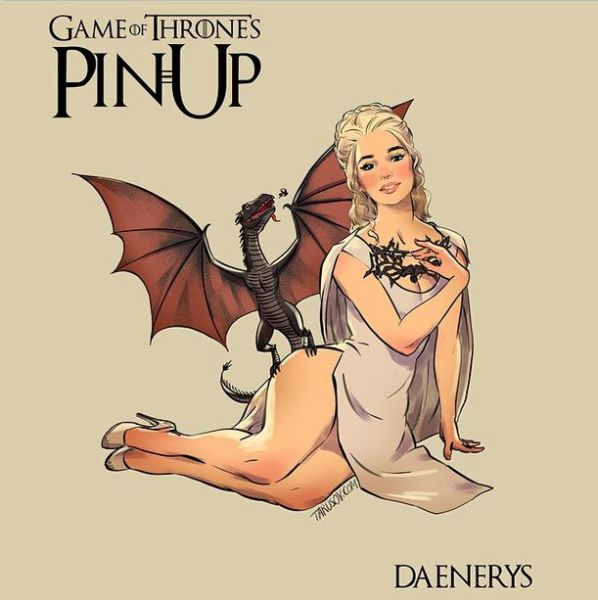 "The ""Game of Thrones"" Ladies as Pin Up Cover Girls"