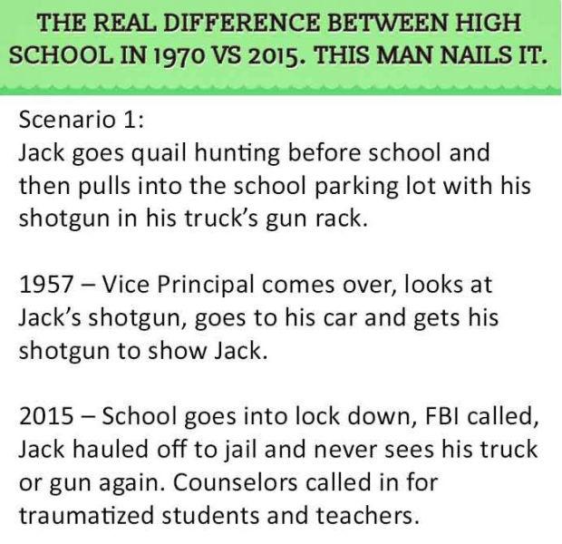High School Life Today vs. High School Life in the 70s
