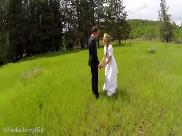 So Maybe Using a Drone to Film a Wedding Is Not the Best Idea in the World  (VIDEO)