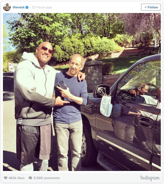 The Rock Makes a New Friend after Bashing His Car into Him