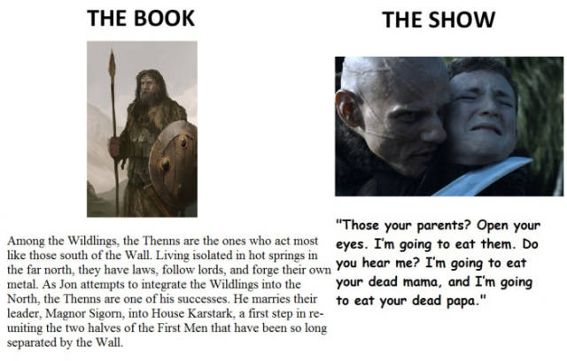 Game of Thrones: Books vs TV Show