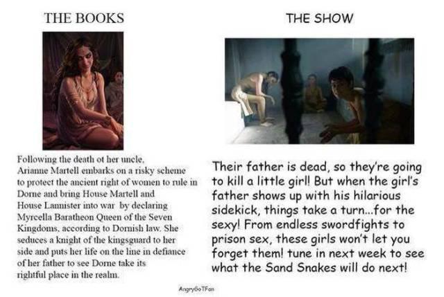Game of Thrones: Books vs TV Show