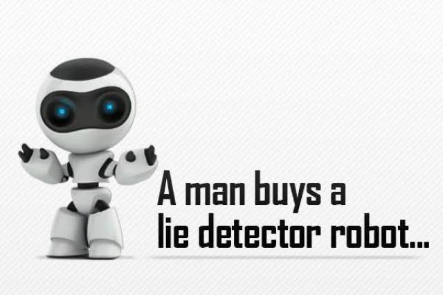 A Dude Buys a Lie Detector Robot and It Doesn't End Quite Like He Expected