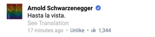 Arnold Schwarzenegger Fan Gets Owned by the Star on Facebook