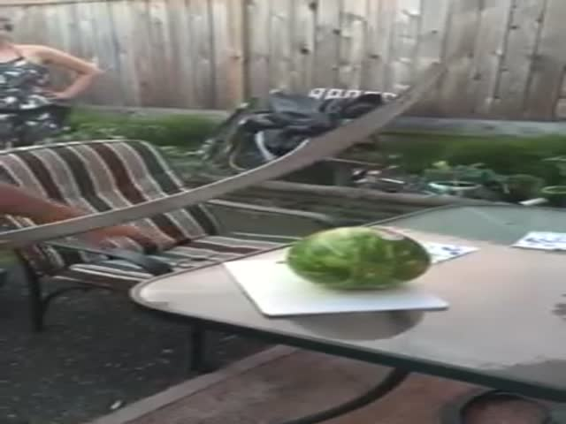 How Not to Cut a Watermelon with a Sword