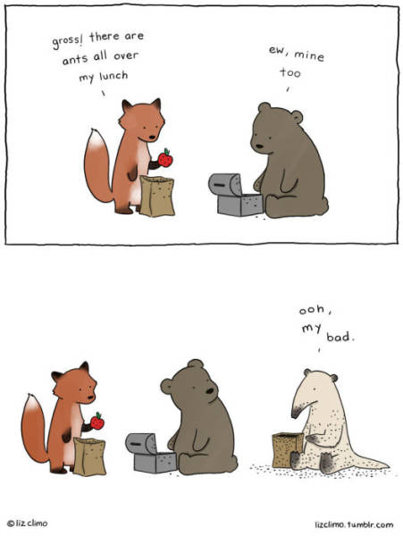 cute illustrated conversations between animals 25 pics picture