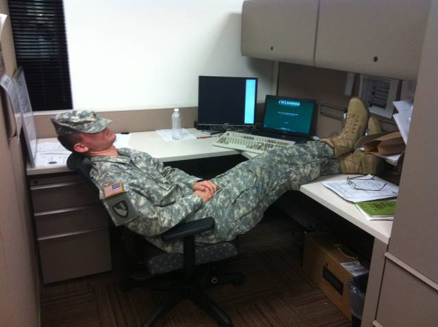 This Military Officer Is the Epitome of Lazy