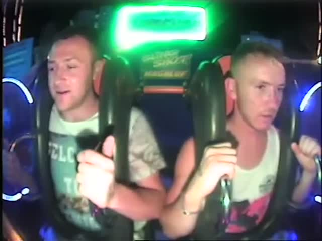 The Slingshot Ride Is Just too Much for This Guy to Manage