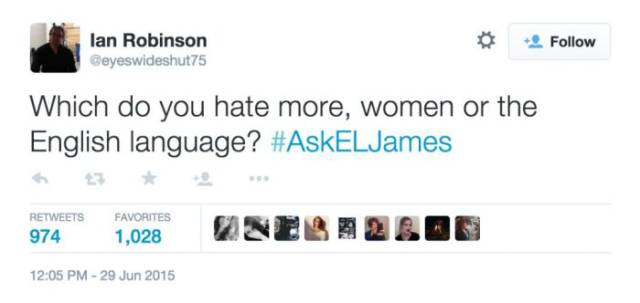 50 Shades of Grey Author Takes a Verbal Beating on a Live Twitter Q and A Session