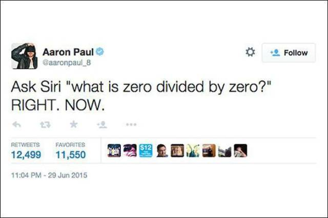 Siri's Answer to Dividing Zero by Zero Has the Internet Going Crazy with Responses