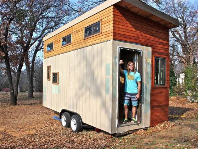 College Student Saves Money by Building His Own Mini Mobile Home