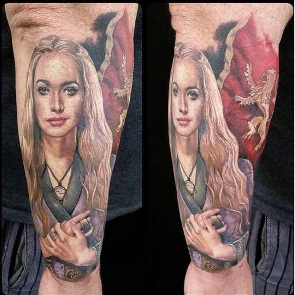 """Epic Tattoos of Some Exceptionally Die-hard """"Game of Thrones"""" Fans"""