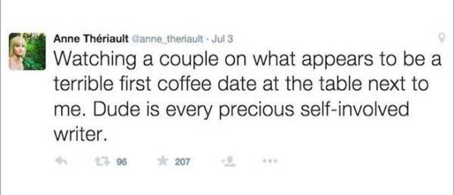A Terrible Date Gets Tweeted to the World in Live Time