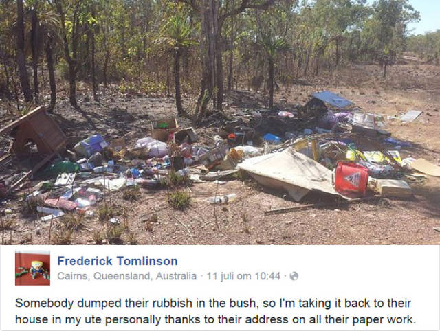 Illegal Trash Dumper Overlooks One Detail That Makes His Plan Backfire Completely