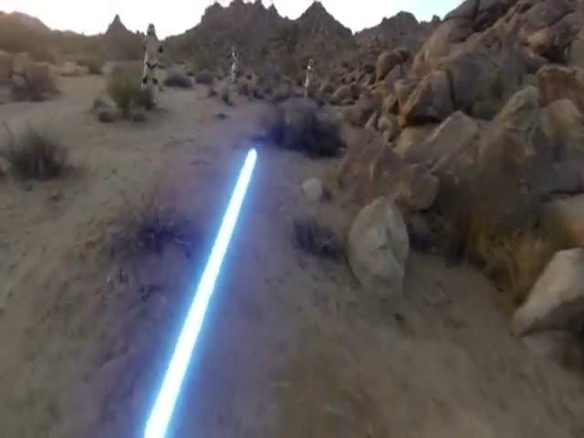 GoPro Captures a Jedi Warrior in Action
