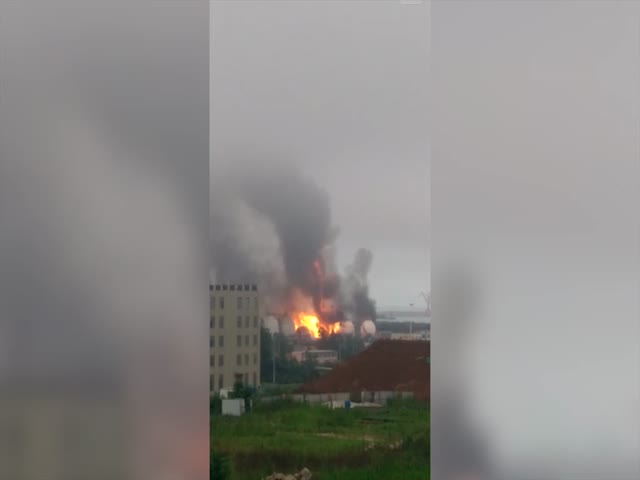 Chinese PetroChemical Plant Goes Up in Flames