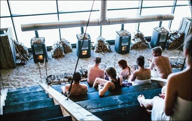 A Massive Public Sauna in Norway