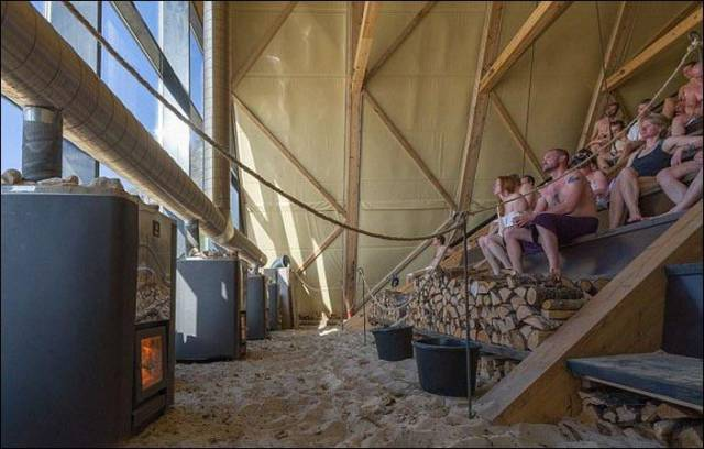 A Massive Public Sauna in Norway