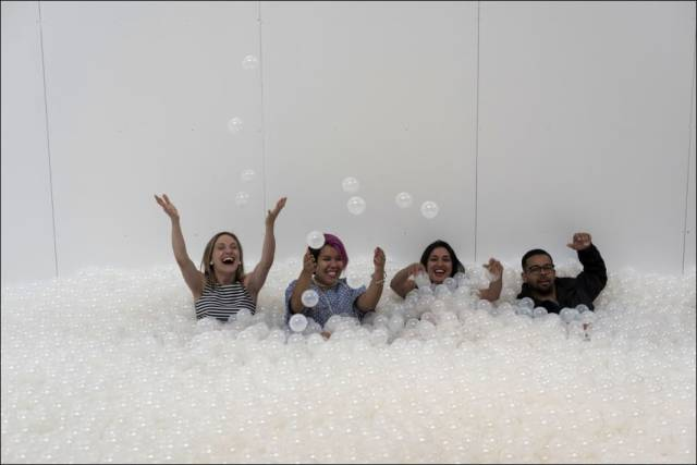 People are Invited to Swim in a Sea of Plastic Balls in the Name of Art