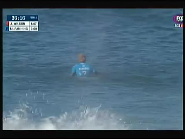 Mick Fanning Gets Attacked by a Shark During Live Surfing Final