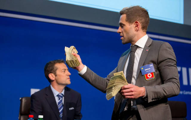 Corrupt FIFA President Gets Owned by a Funny Guy During a Press Conference