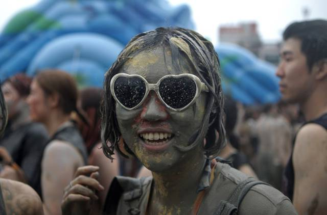 Partiers Get Crazy Messy at the South Korean Mud Festival